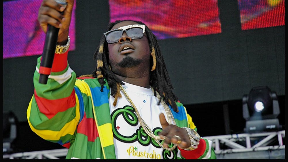 T-Pain performing at a concert in East Rutherford, N.J. in 2007.