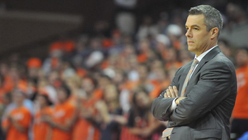 Coach Tony Bennett will have a busy offseason as he looks to fill Virginia's fouropen scholarships.