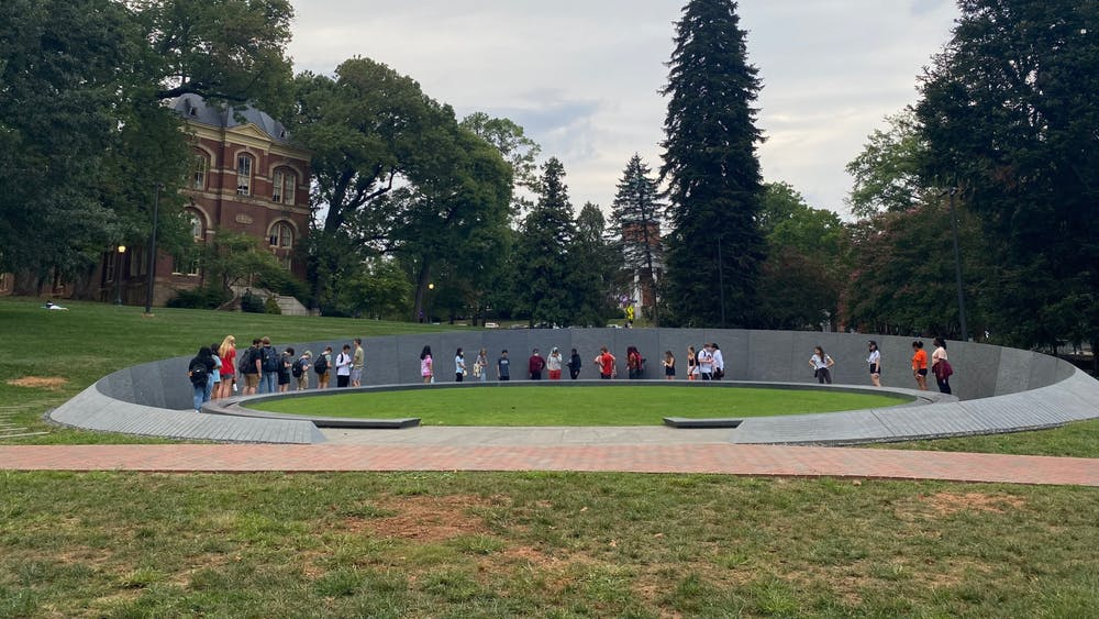 One stop is the Memorial to Enslaved Laborers, where students are given the opportunity to learn about its creation and history at the University.