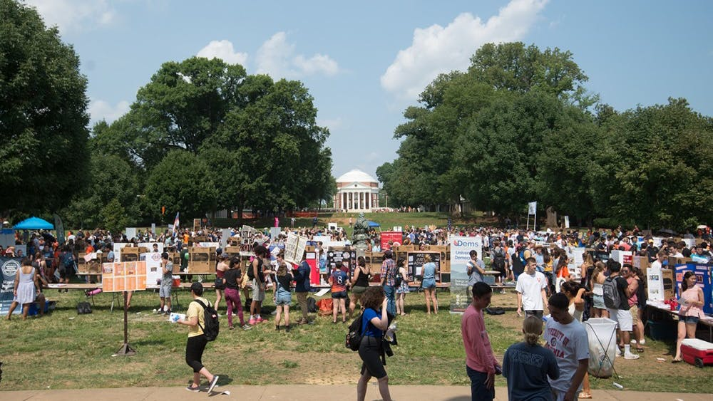 Activities Fair was held on the South Lawn and at the Amphitheatre on Monday afternoon.
