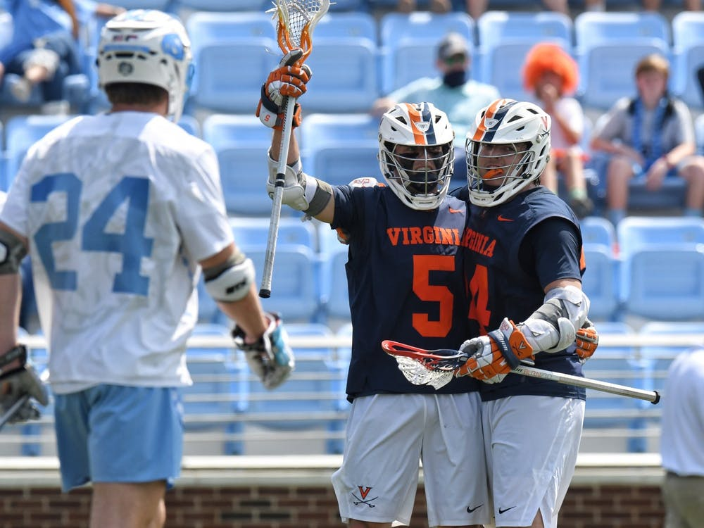 Two of Virginia's key attackmen — senior Matt Moore and sophomore Payton Cormier — combined for 10 points against the Tar Heels.