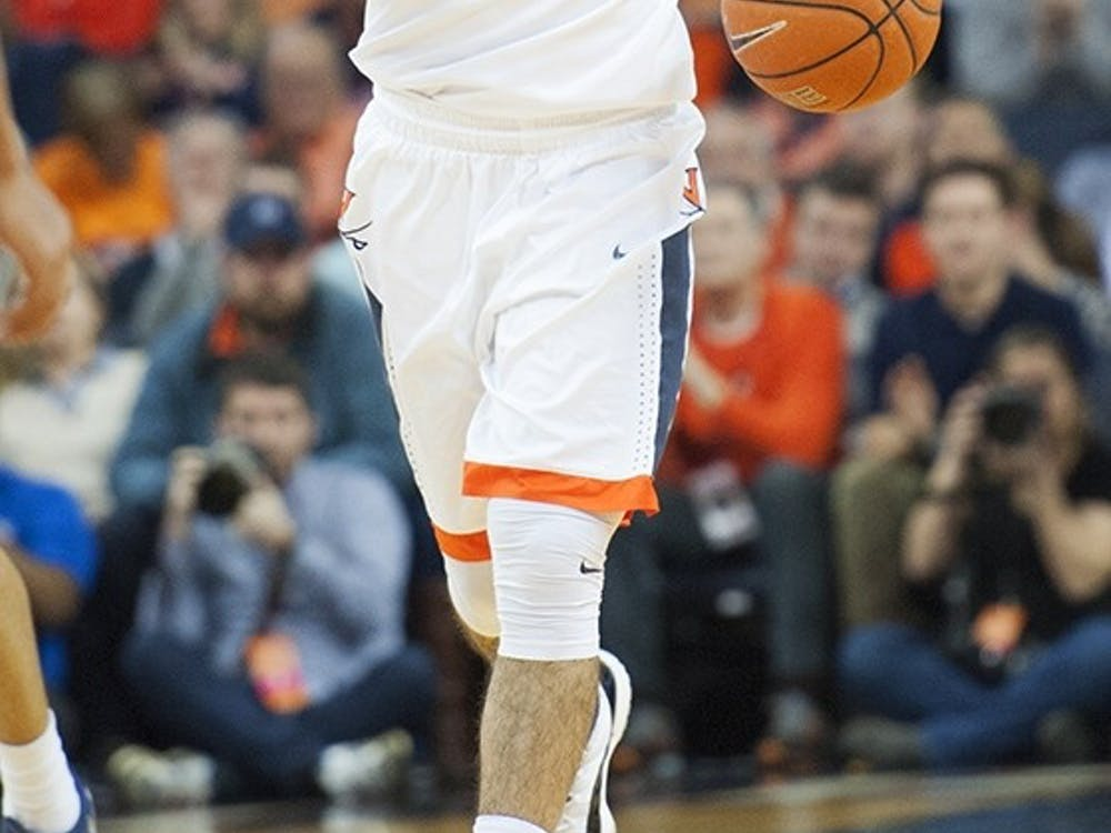 Senior point guard London Perrantes has big shoes to fill, and this weekend's game against UNC Greensboro is the start of his final season in Charlottesville.