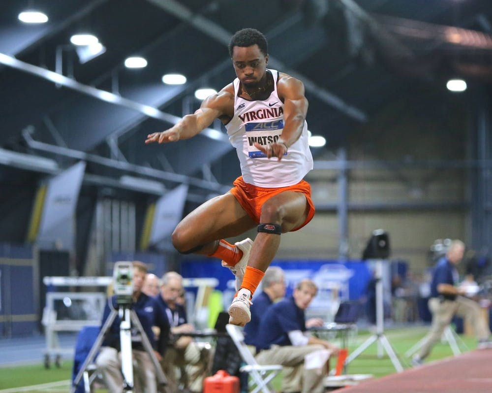 <p>Junior Ayende Watson tied his personal best in the long jump, jumping 6.89 meters for a seventh-place finish at the meet.&nbsp;</p>