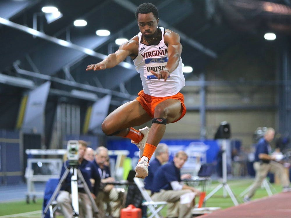 Junior Ayende Watson tied his personal best in the long jump, jumping 6.89 meters for a seventh-place finish at the meet.
