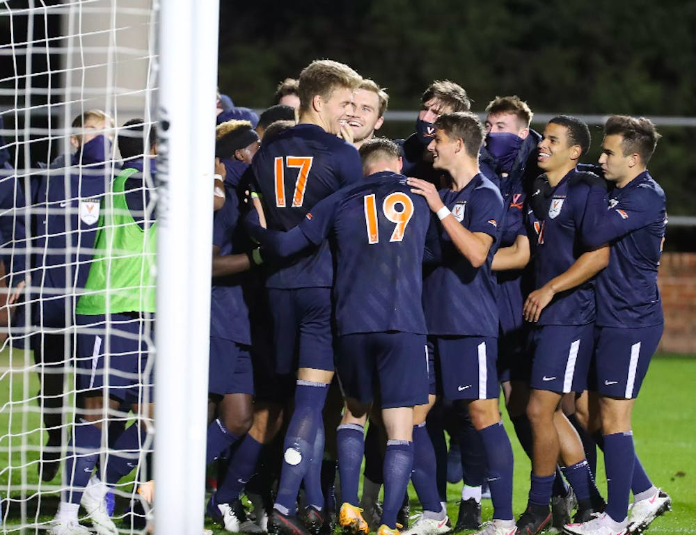 <p>Virginia celebrated its first shutout after sophomore defender Andreas Ueland buried a penalty kick in the 71st minute.</p>