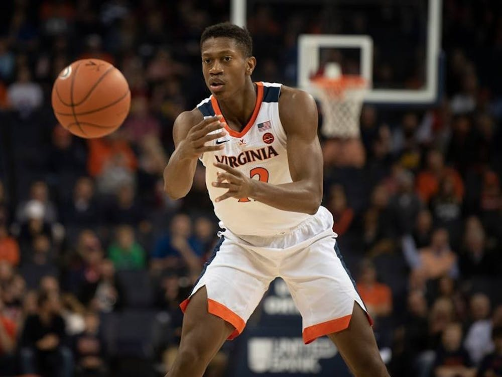 Sophomore forward De'Andre Hunter had 15 points, nine assists and eight rebounds against Middle Tennessee State Wednesday night.