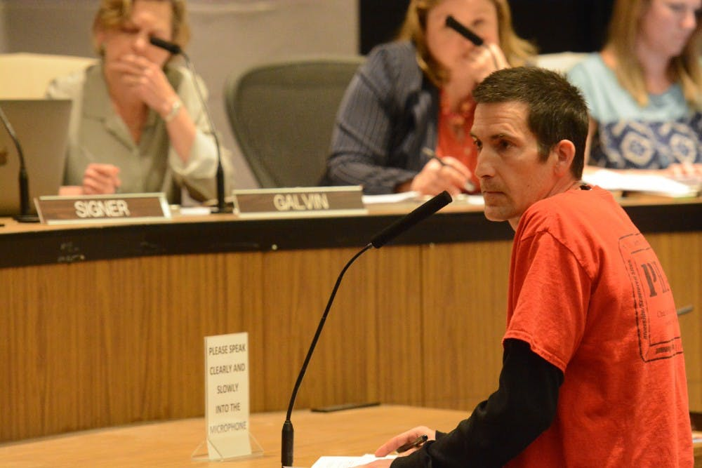 <p>Brandon Collins, an organizer with the Public Housing Association of Residents, said he opposed the land bank ordinance unless City Council would fully implement recommendations by the Housing Advisory Committee.&nbsp;</p>