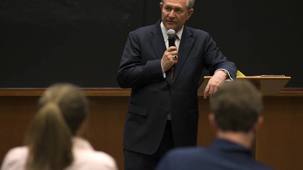 Gilmore holds two degrees from U.Va., having earned a bachelor's degree international relations in 1971 followed by a law degree in 1977.