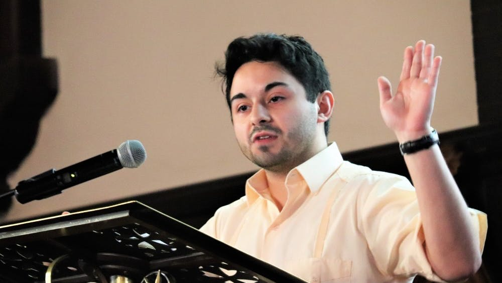 Cintron reflected on his term as Student Council president during a transition ceremony held April 7.