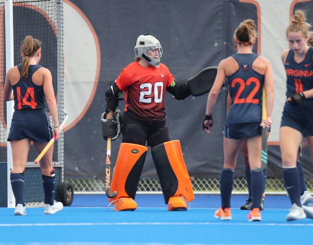 <p>Virginia has maintained a strong defensive back line led by junior goalkeeper Lauren Hausheer and sophomore goalkeeper Taylor Henriksen.&nbsp;</p>