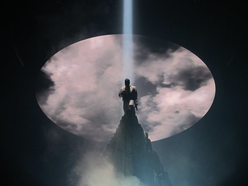 """Kanye West, performing here at the Verizon Center in 2013, released his long-awaited gospel album """"Jesus Is King."""""""