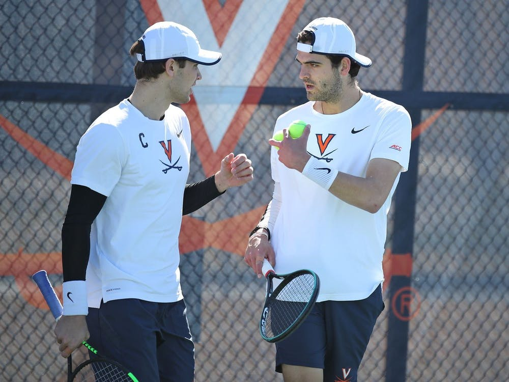 Virginia graduate student Carl Soderlund and junior William Woodall won their doubles match in convincing fashion, winning 6-1.