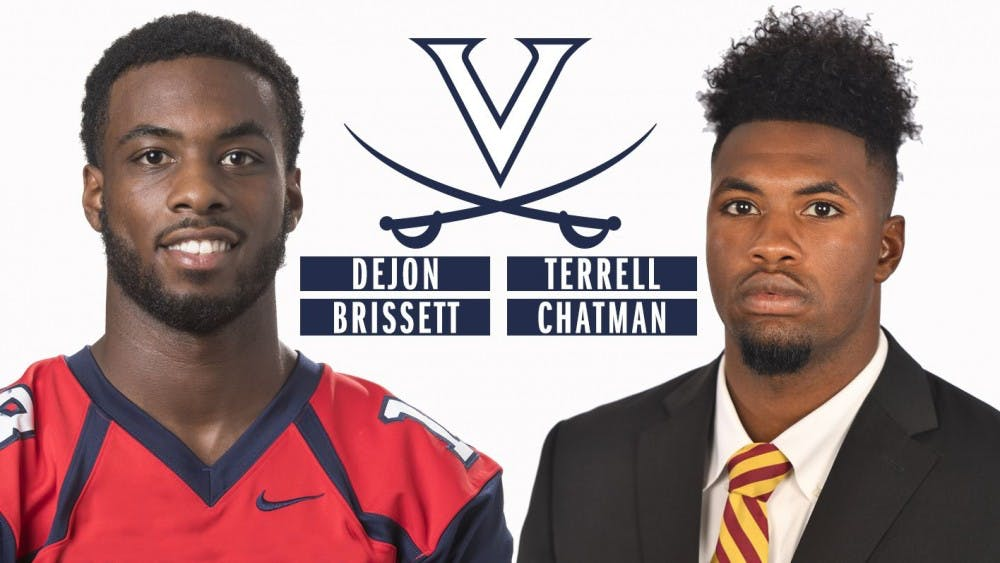 <p>Wide receivers Dejon Brissett and Terrell Chatman hope to make an immediate impact for the Cavaliers.&nbsp;</p>