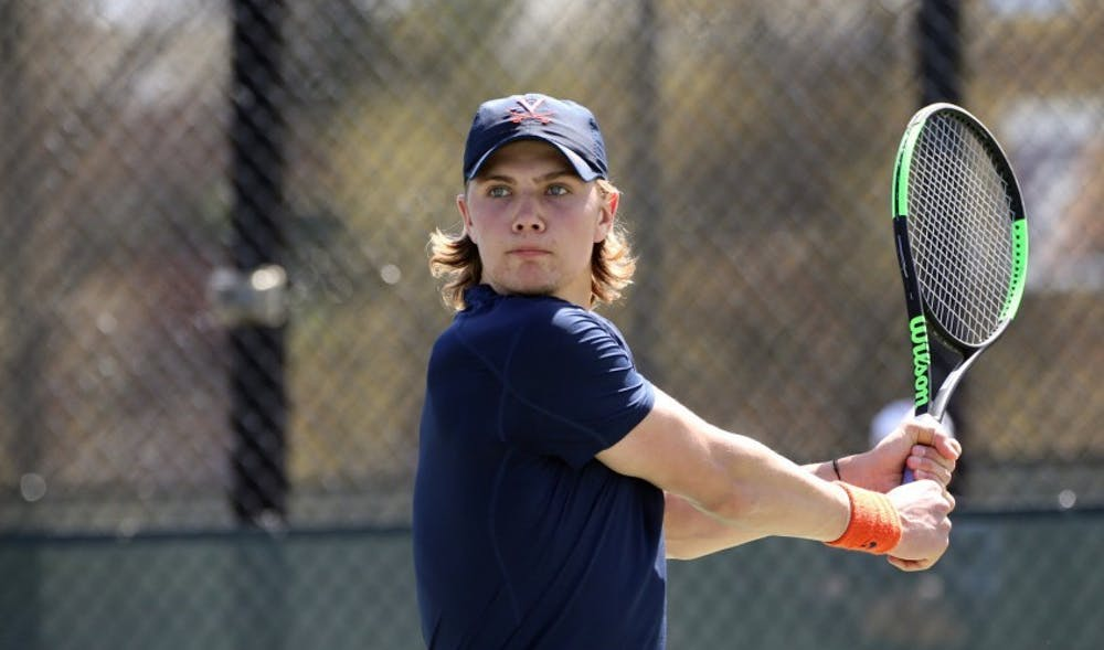 <p>Sophomore Carl Soderlund has been of the team's most consistent performers this season.</p>