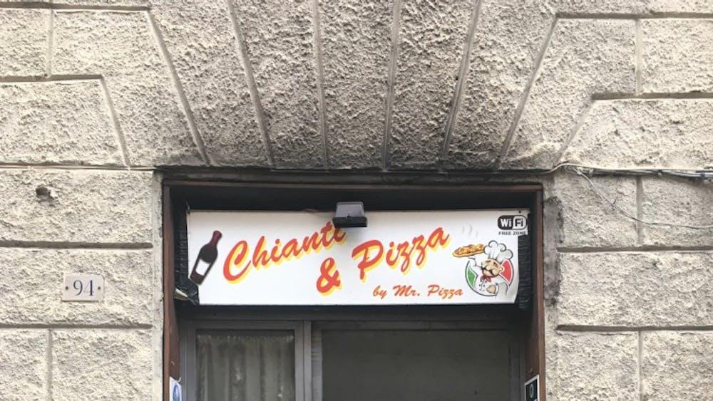 "Siena pizza shop ""Mr. Pizza"" caught on fire Nov. 18."