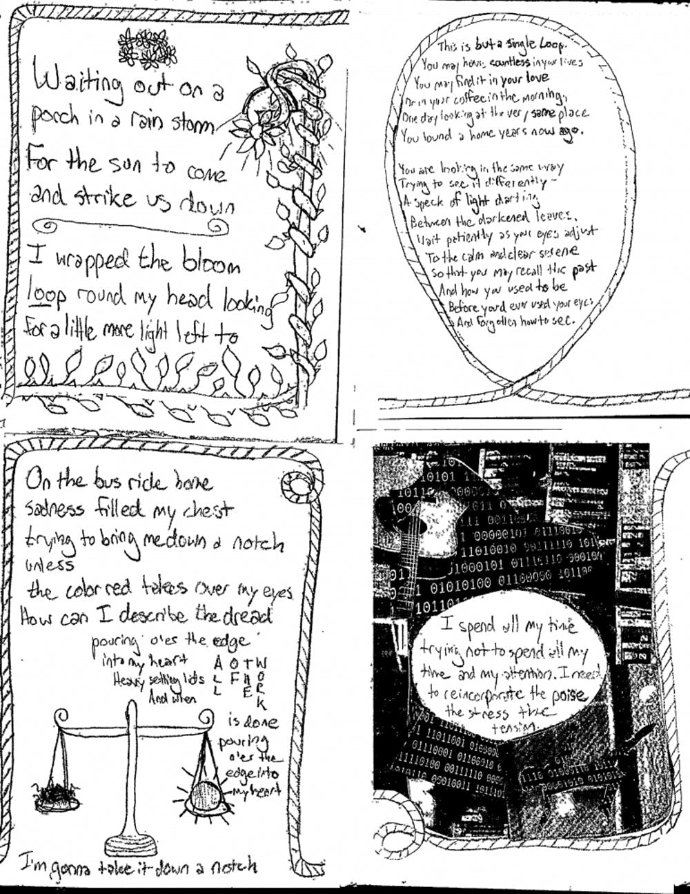 <p>Alice Clair gave away miniature magazines at her show, an excerpt of which is pictured here.</p>