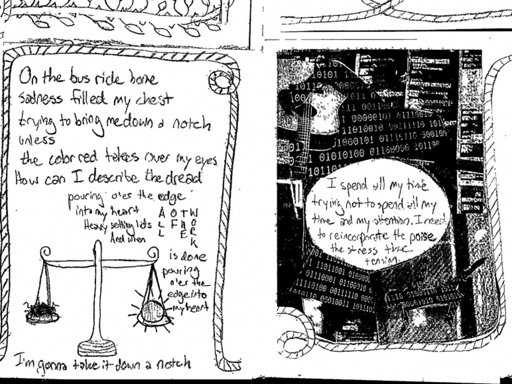 Alice Clair gave away miniature magazines at her show, an excerpt of which is pictured here.