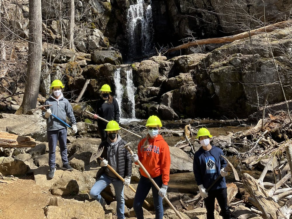 ASB was able to host small, in person group events during the spring semester that focused on servicing areas around Charlottesville, including fixing water bars in Shenandoah National Park.