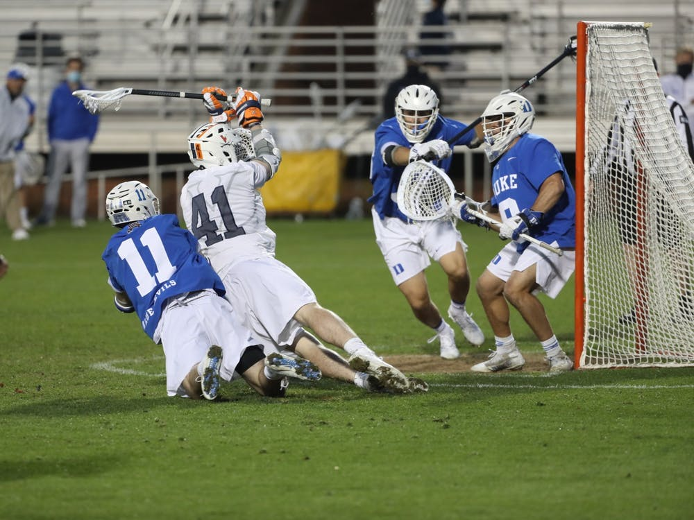 Graduate student attackman Charlie Bertrand looked to have the game-winning goal with seven seconds left in regulation, but the two-time Division II Player of the Year was called for falling into the goal mouth, nullifying the goal.
