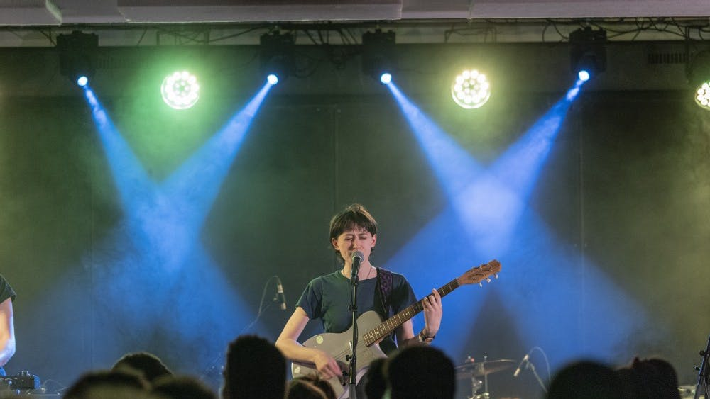 Frankie Cosmos performs in April 2019.