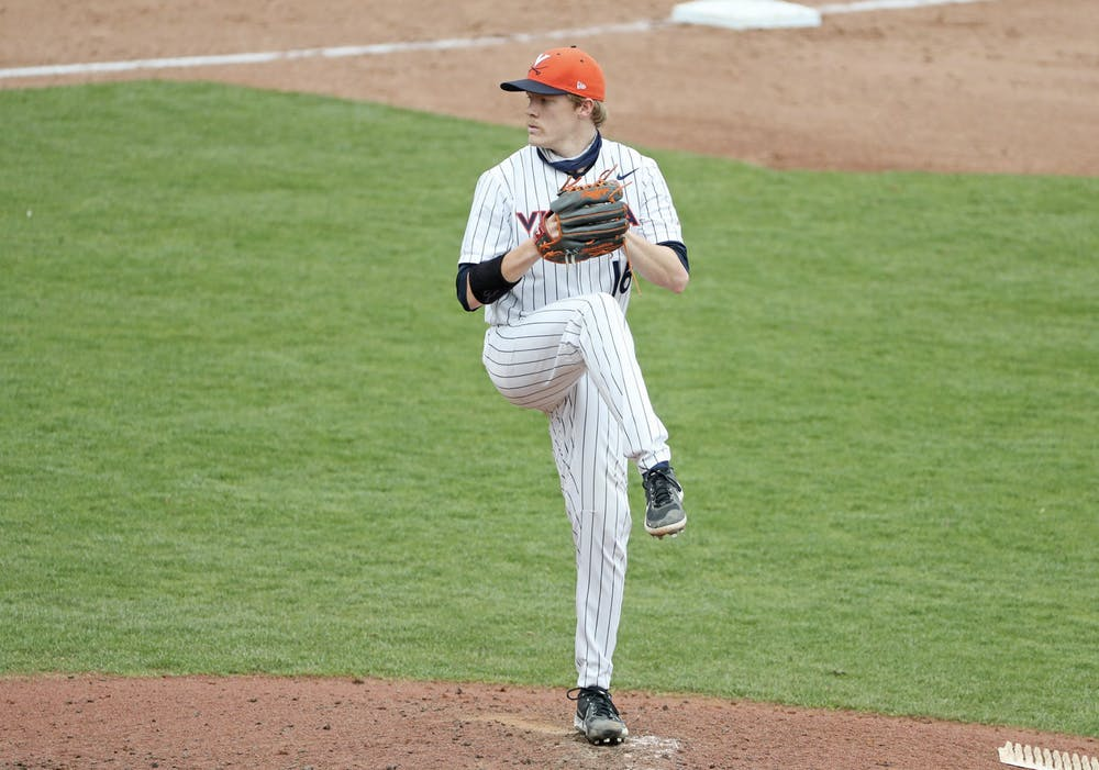 <p>The Cavaliers won the second game of the series with Abbott, who pitched eight scoreless innings, on the mound</p>