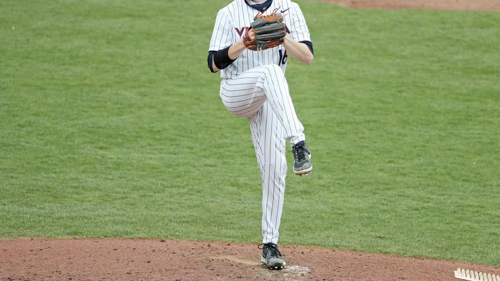 The Cavaliers won the second game of the series with Abbott, who pitched eight scoreless innings, on the mound