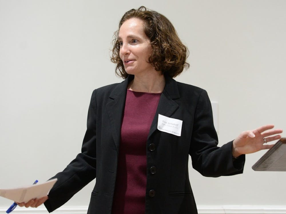 Law School Dean Risa Goluboff spoke about recent proposed policy regulations at a University Democrats meeting Wednesday night.