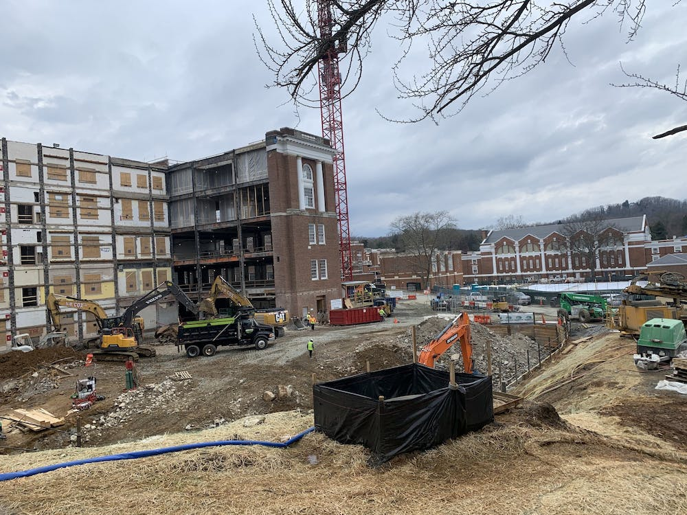 Alderman Library closed in March 2020 and construction began in June 2020, with an expected completion date in spring 2023.