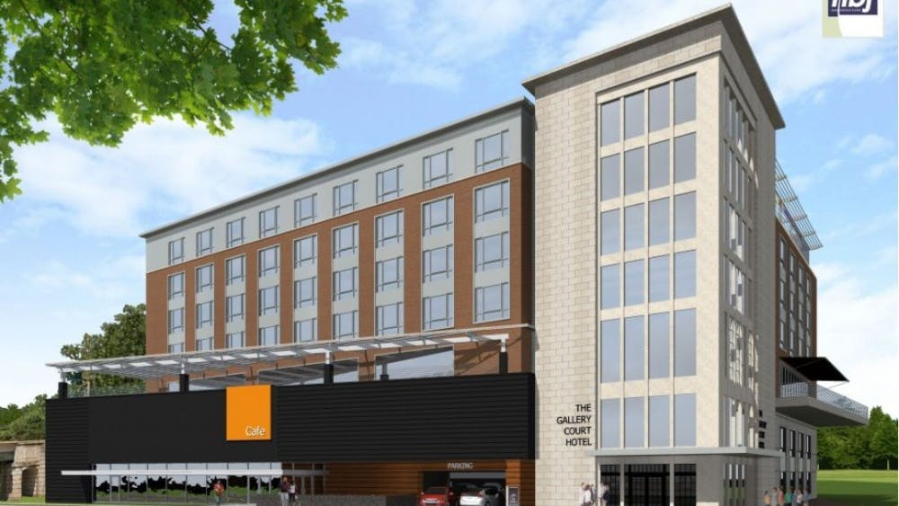 The hotel is expected to include a seven foot-wide sidewalk and a five-foot wide bike lane on Emmett Street along with the addition of a public café to the building's front to make the six-story building appear smaller from the sidewalk.