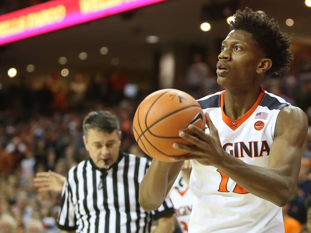 Redshirt freshman guard De'Andre Hunter has provided Virginia with an offensive spark in ACC play.