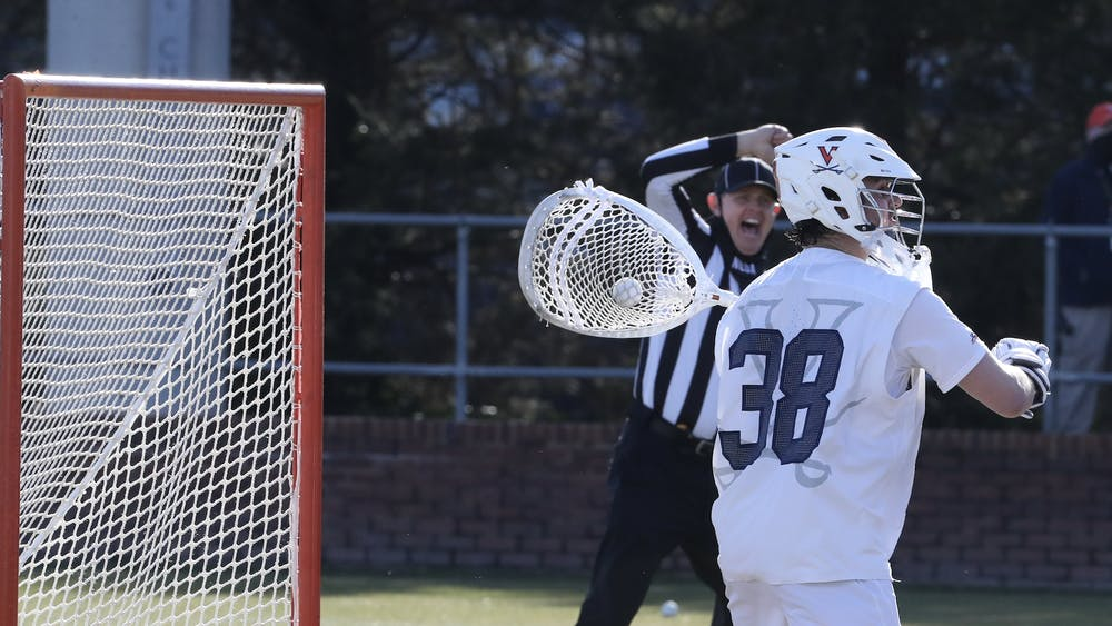 Senior goalie Alex Rode held steady all day, saving 11 of 15 shots on goal from the Falcons.