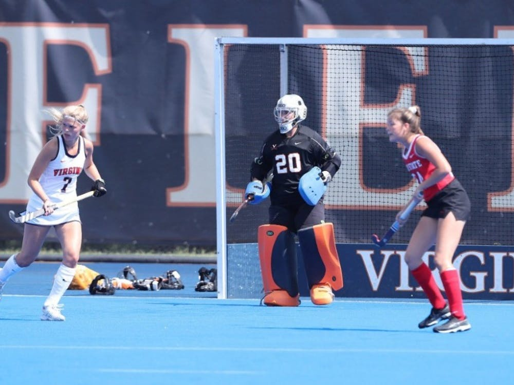 Sophomore goalkeeper Lauren Hausheer made several crucial saves this weekend to help Virginia remain undefeated.