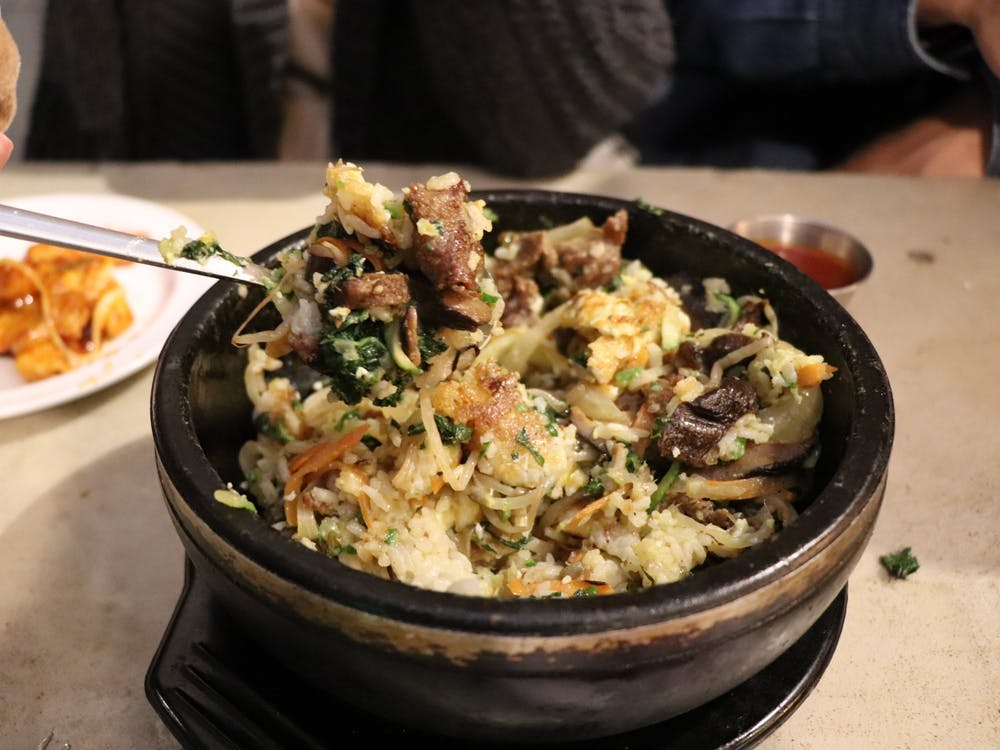 Bibimbap varies from restaurant to restaurant and from home-to-home.