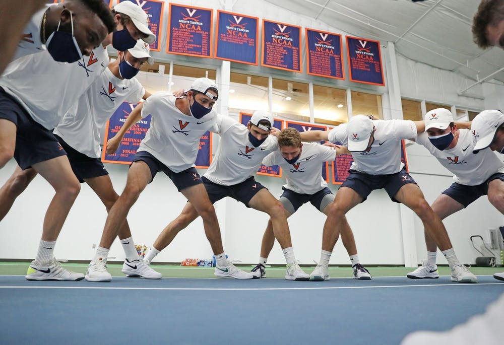 <p>The Cavaliers picked up a big win against in-state rival Virginia Tech in their last regular-season home match.</p>