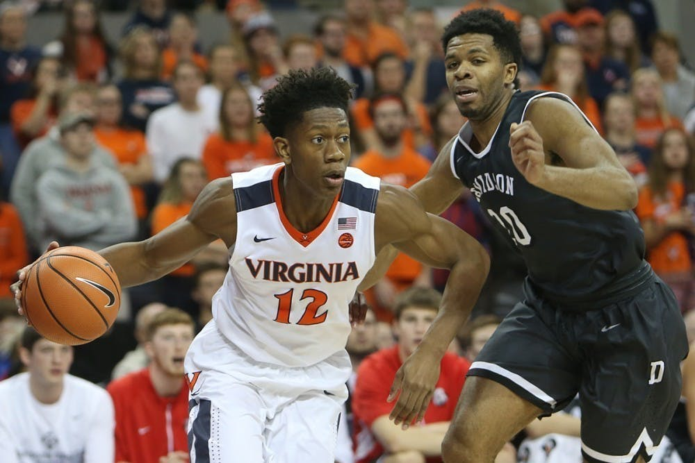 <p>De'Andre Hunter was among the highest-rated recruits that Tony Bennett has brought to Virginia.</p>