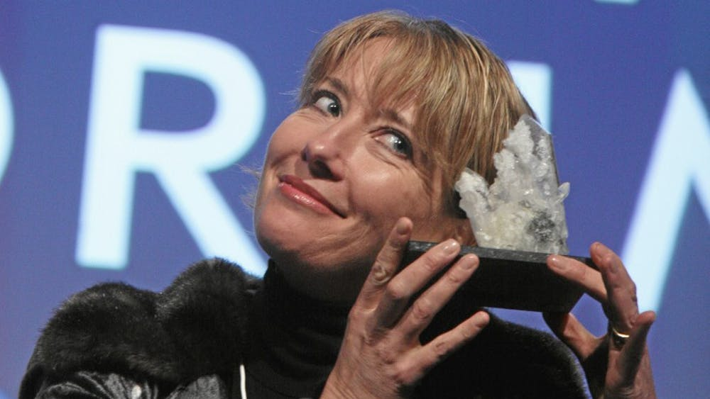 Emma Thompson receives an award in 2008. Thompson and Mindy Kaling star in a movie that tries to discuss diversity but instead pokes fun at the issue at hand.