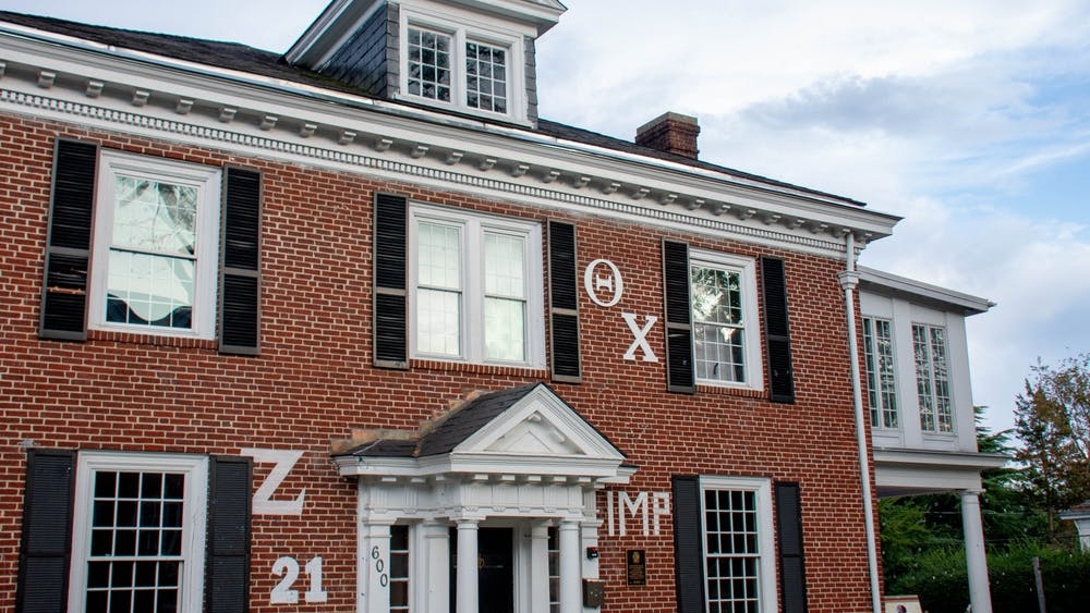 The brothers of Theta Chi described the painting as a 3-foot-by-3-foot paneled collage of geometric shapes.