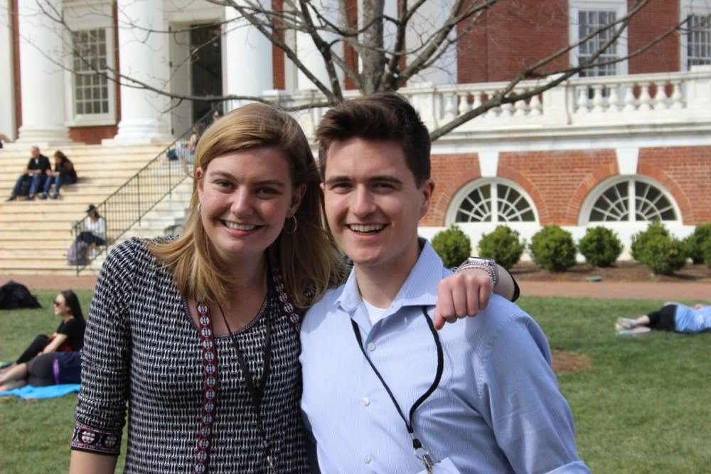 <p>Mary Alice Kukoski (Left), a third-year College student and president emeritus of the University Democrats, and Jackson Samples, a third-year College student and recently-elected president of the organization.&nbsp;</p>