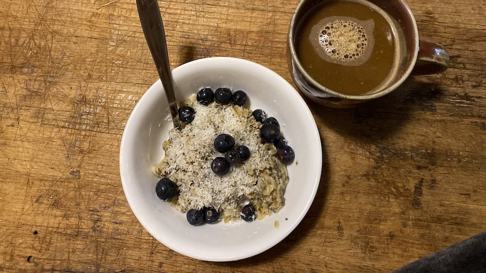 Oats are easy to take on-the-go, and they stay delicious and warm in any insulated mug.