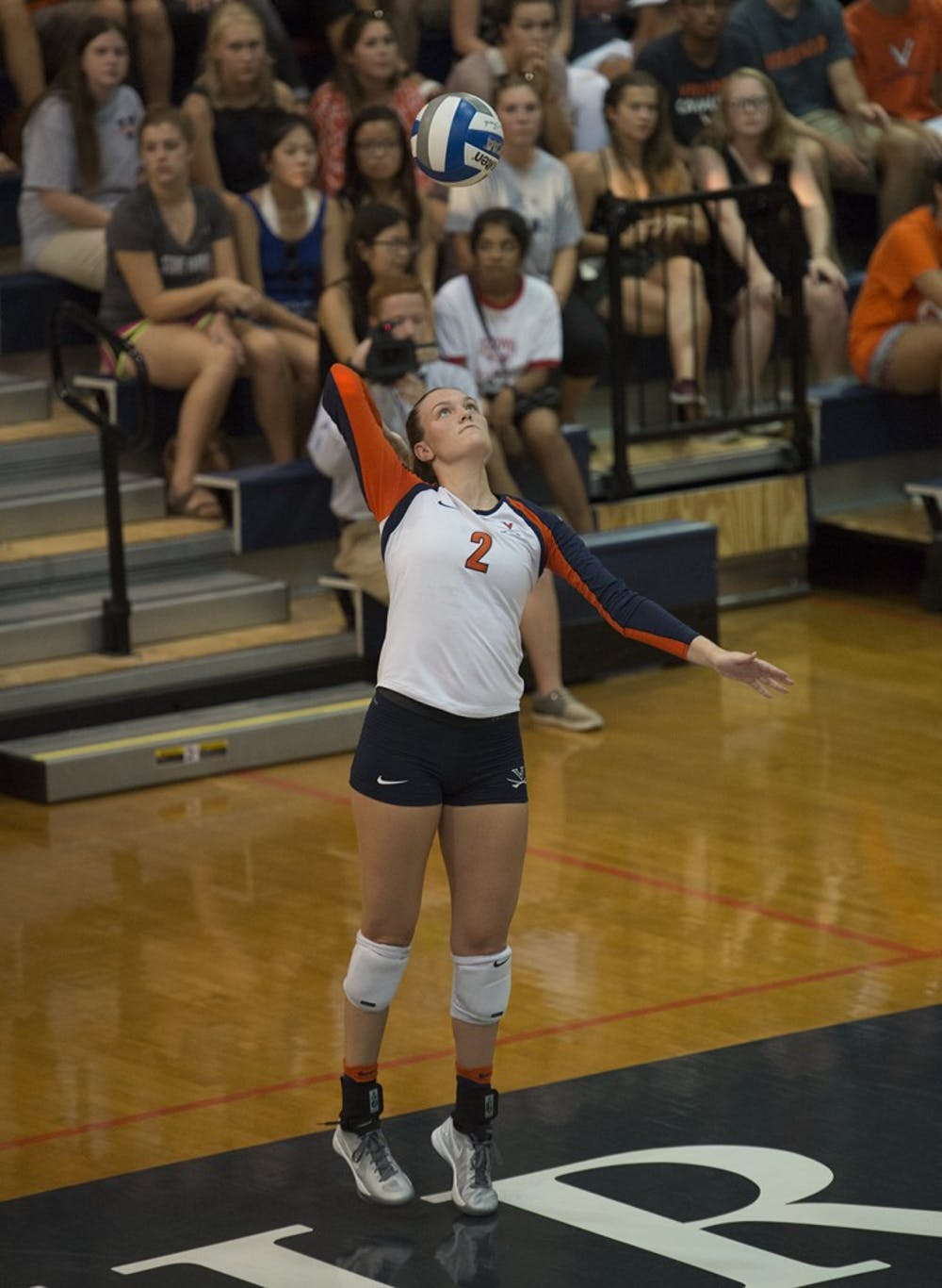 <p>Senior Haley Kole led the way in Virginia volleyball's wins over Louisville and Notre Dame this past weekend.</p>