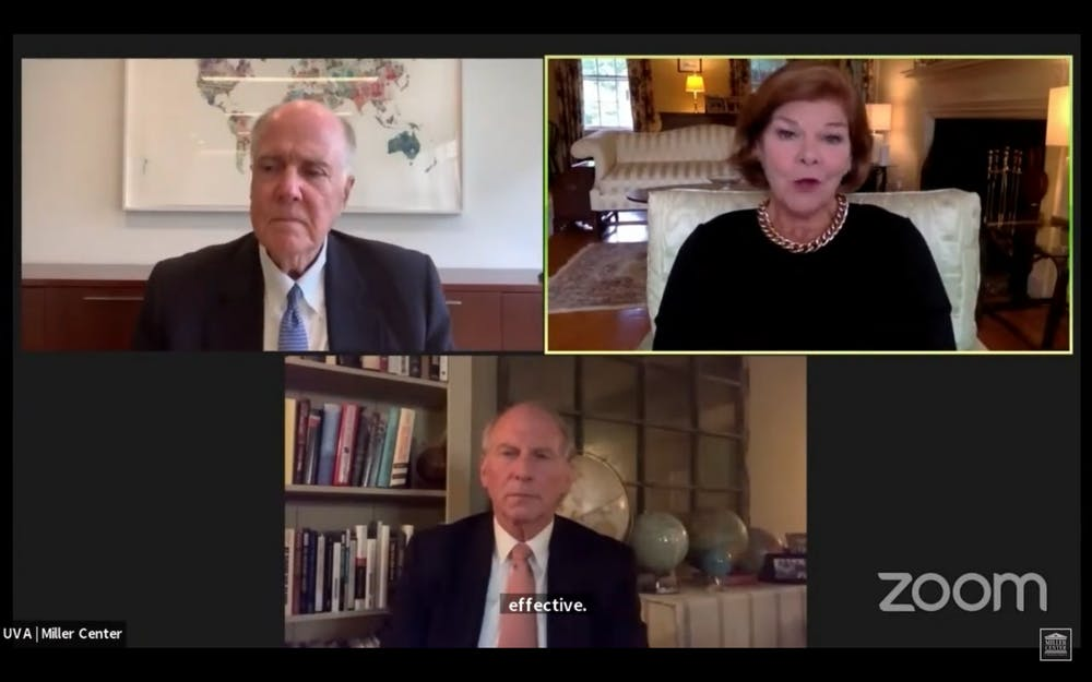 Ann Compton, former White House correspondent for ABC News, moderated the discussion between former National Security Advisor Tom Donilon and Richard Haass, president of the Council on Foreign Relations.