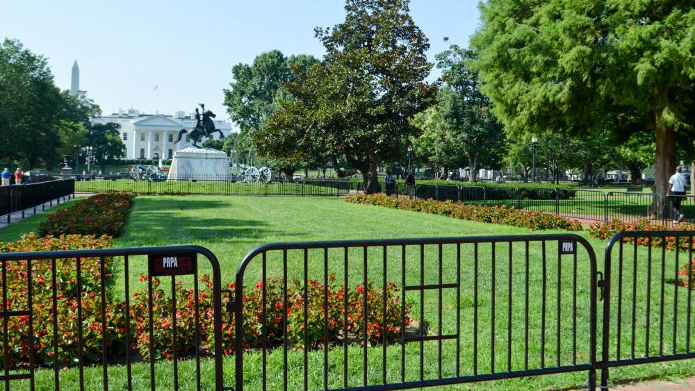 Sunday's white supremacist rally will be held in Lafayette Park, directly across from the White House in Washington, D.C.
