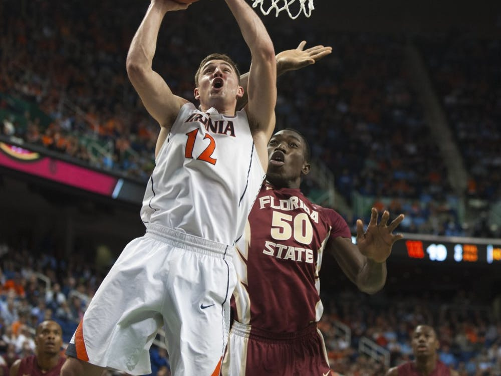 Senior guard Joe Harris goes up for a layup in Virginia's quarterfinal win over Florida State