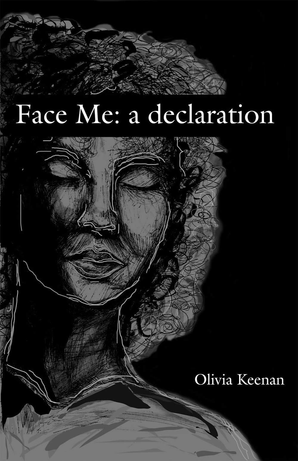 """<p>Second-year College student Caroline Weis designed the cover with Keenan to ensure that it reflected the real confrontation that comes with the command of """"Face Me.""""</p>"""