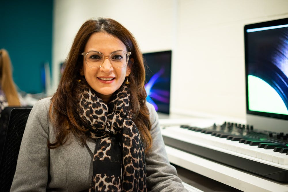 <p>Using a technique known as 360 degree filmmaking, Professor Mona Kasra works to explore the possibilities of immersive media.&nbsp;</p>