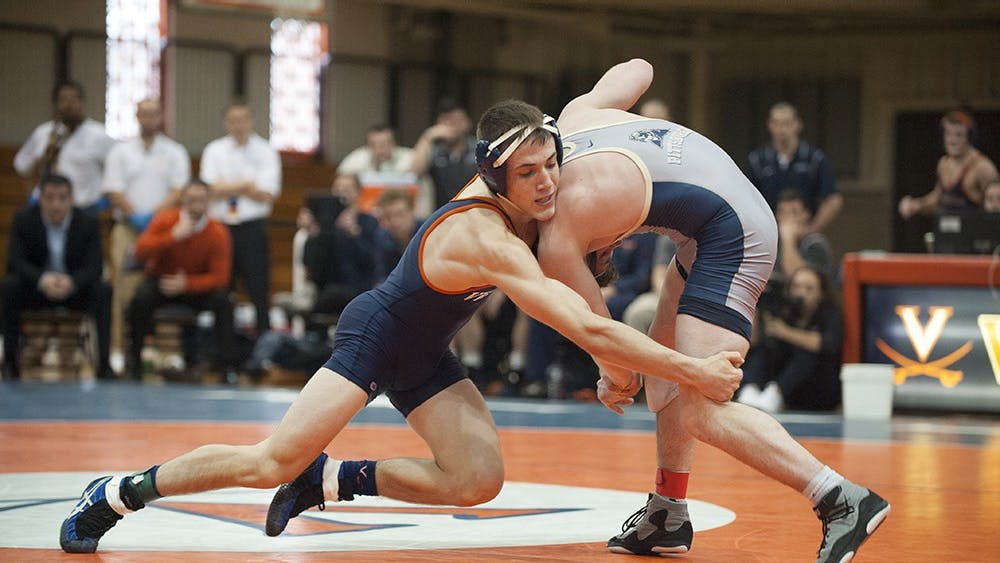 Junior George DiCamillo and his Virginia teammates wrestle  at the Cliff Keen Invitational this weekend in Las Vegas.