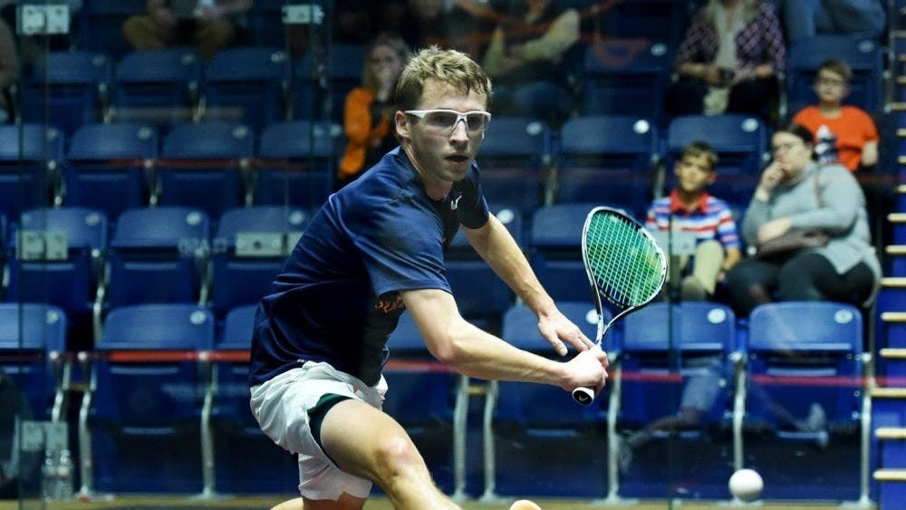 Junior Toby Hansford won the match for the Cavaliers against No.16 Franklin and Marshall.