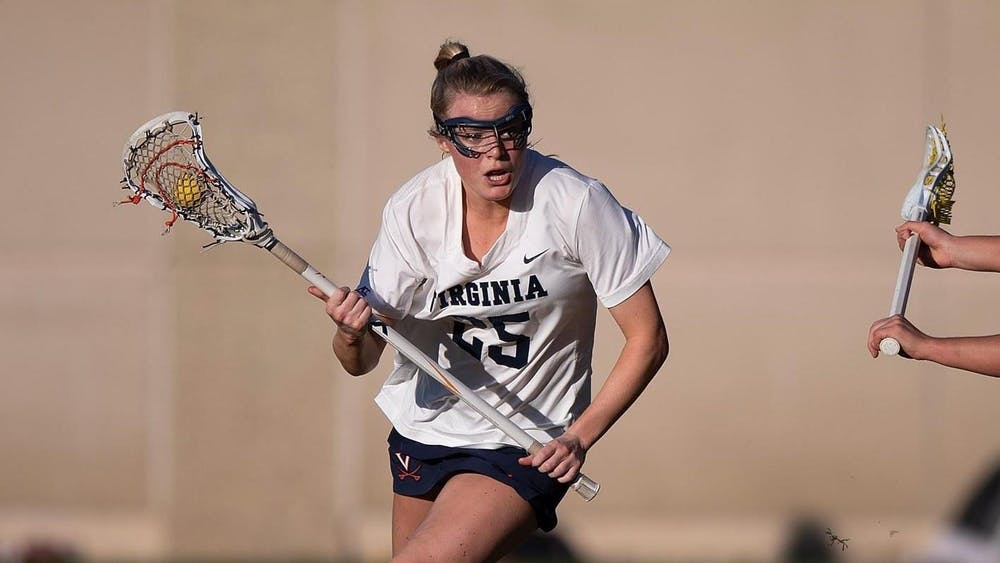 Sophomore midfielder Courtlynne Caskin scored four goals in the first half for the Cavaliers.