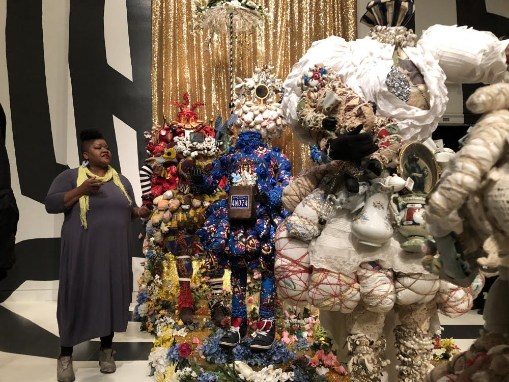 """<p>Vanessa German's installation, """"sometimes.we.cannot.be.with.our.bodies."""" is on display at the Fralin through July 7.&nbsp;</p>"""