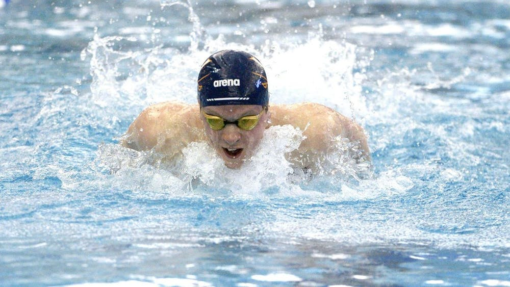 <p>Senior Ted Schubert took home two ACC titles in the 200-yard and the 400-yard individual medley.</p>